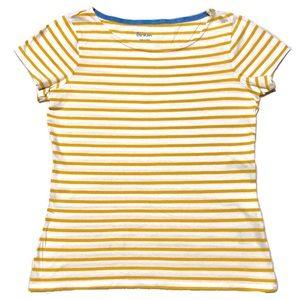 Boden Striped Lemony Top